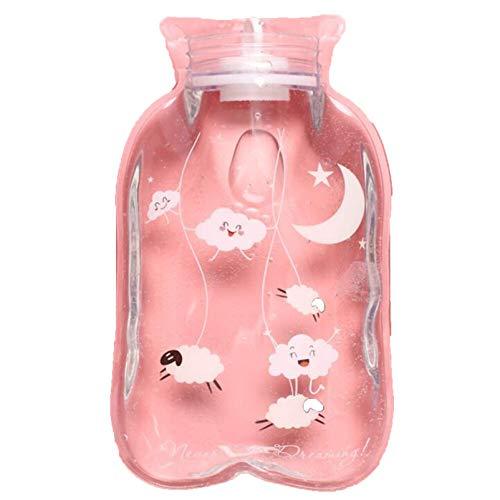 Detazhi Bolsa de Agua Caliente Transparente Botella de Agua Caliente Dibujos Animados Mano Calentador Portátil Cálido Botella de Agua Caliente (Color: Patrón 4) (Color : Pattern 16)