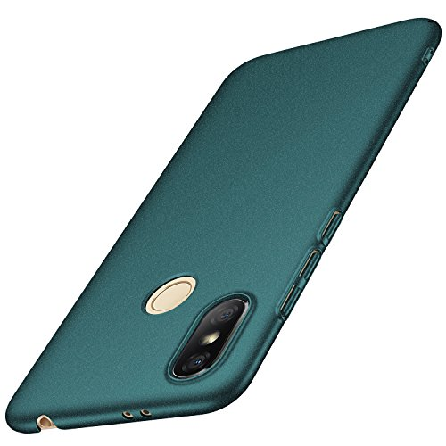 Anccer Funda Xiaomi Redmi S2 [Serie Colorida] [Ultra-Delgado] [Ligera] Anti-rasguños Estuche para Carcasa Xiaomi Redmi S2 (Grava Verde)