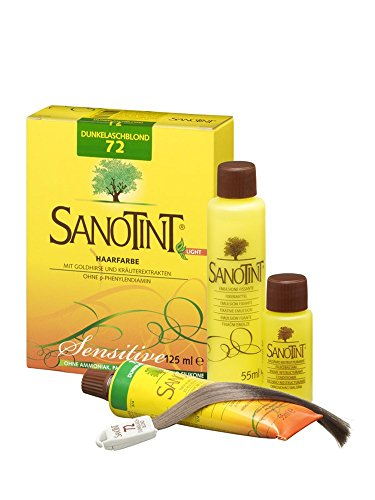 Sanotint Haarfarbe Sensitive light Nr. 72 Dunkelaschblond 125 ml