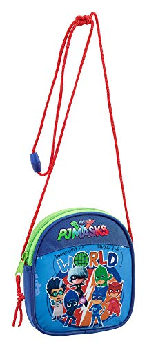 P J Masks 'World' Purse with String Strap, 14 cm