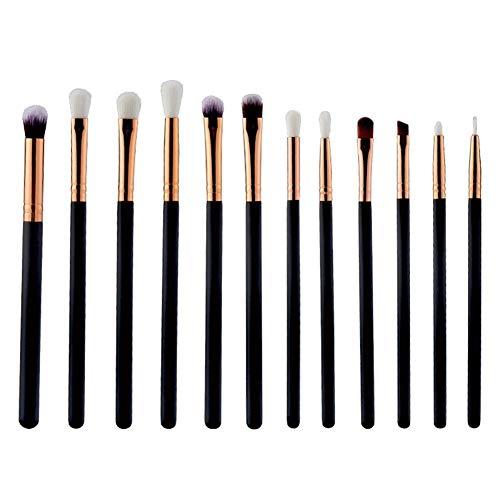 Cxssxling Lot de 12 Pinceaux Maquillage professionnel Pinceaux pour Le Yeux Ombre à Paupières Sourcils Shader Concealer Cosmetics Brush