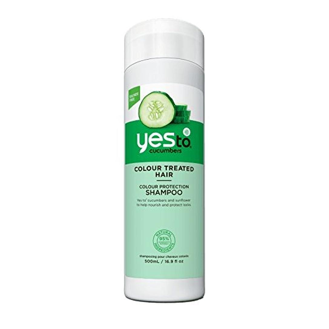 コミュニケーション酔っ払い掃くはいキュウリシャンプー500ミリリットルへ - Yes To Cucumber Shampoo 500ml (Yes To) [並行輸入品]