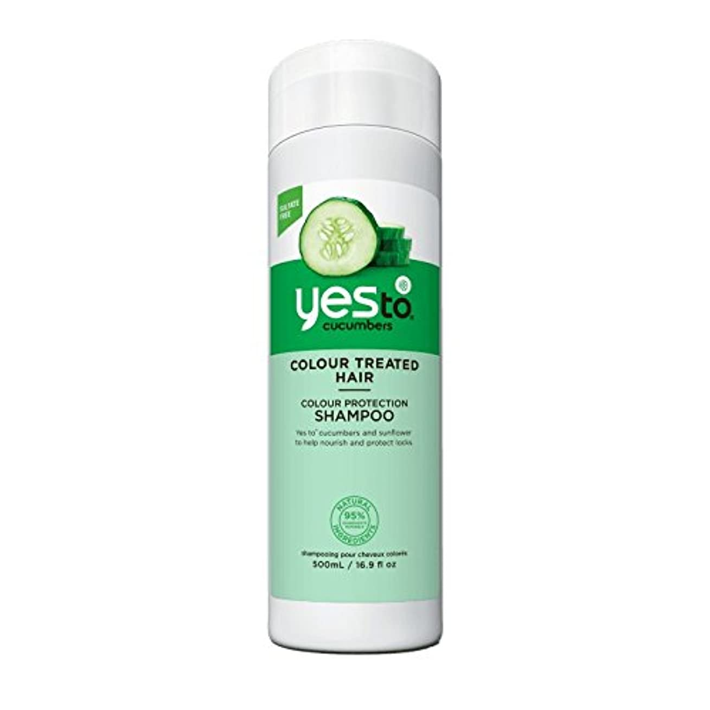 判読できないミンチ幾分はいキュウリシャンプー500ミリリットルへ - Yes To Cucumber Shampoo 500ml (Yes To) [並行輸入品]