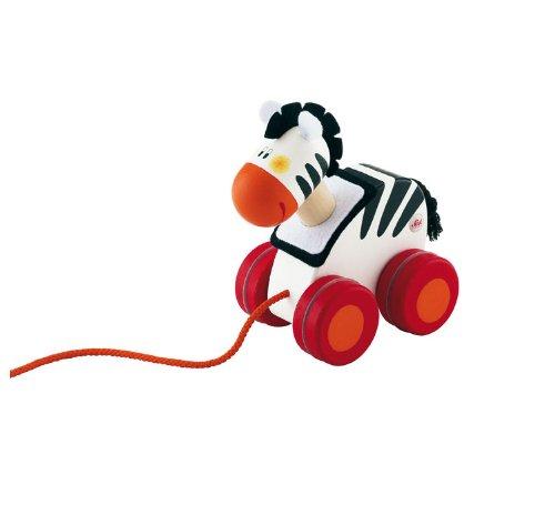 Sevi - 81844 - Jouet de Premier Age - Mini Jouet à Traîner - Zèbre