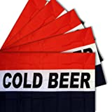 Moon Knives 3x5 3x5 Wholesale Set 5 Pack of Advertising Cold Beer Business 5 Flags Flag - Party Decorations Supplies For Parades - Prime Outside, Garden, Men Cave Decor Flag