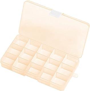 Transparent Jewelry Box, 1 Pcs Transparent Plastic Box Container Transparent Storage Box, Suitable for Small Handicraft Ac...