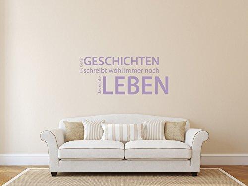 Comedy Wall Art Die besten GESCHICHTEN, schreibt das Leben - Flieder - ca. 105 x 45 cm