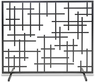 Pilgrim Home and Hearth 18269 Contemporary Summer Fireplace Screen, Black