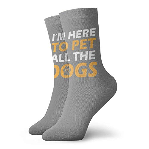 artyly I'm Here To Pet All The Dogs Calcetines Calcetines deportivos de...