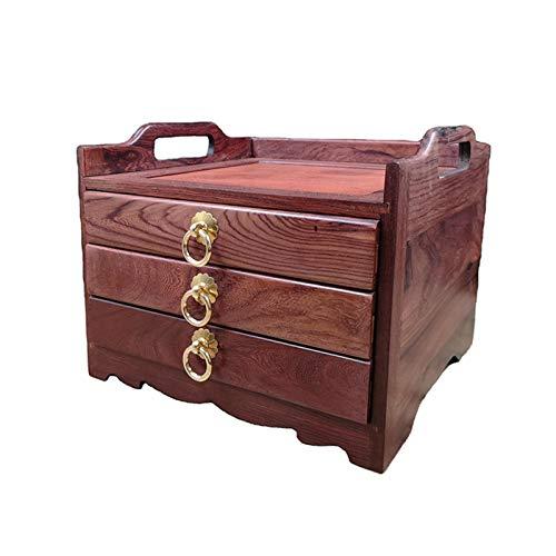 Teebeutel Caddy Box Organizer Hölzerne Teebox Aufbewahrungsbox Teebeutel Staubfest Organizer Halter Tee Aufbewahrungsschubladenhalter Lager (Color : Brown, Size : 24x24x20cm)