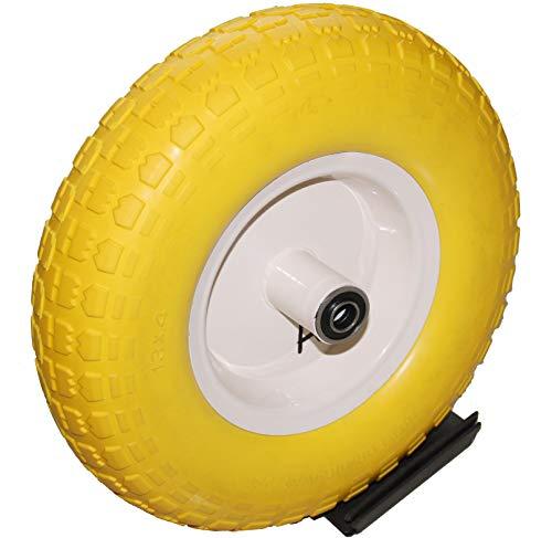 Kunhua 14-pu-y-sz-16 4.00-6-inch Flat Free Wheelbarrow Wheel Wheelbarrow Tire- 4.5-inch Centered Hub(Two Sides Symmetrical) - 5/8-inch Ball Bearings - 13-inch Tire Diameter