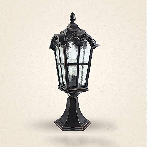 Außenlampe Post Laterne Licht, europäische Art Wandleuchte Balkon Tür Garten Hof Terrasse Stehlampe Antike römische Säule Scheinwerfer
