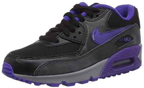 Nike Damen Air Max 90 Essential Sneaker, Schwarz (Blk/Crt Prpl-Hypr Grp-Anthrct), 36 EU
