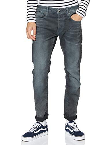 G-STAR RAW Herren Jeans 3301 Slim, Grey (Dk Aged Cobler 7863-3143), 34W / 30L