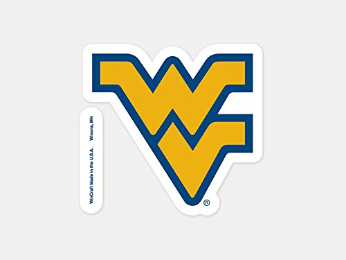 """WinCraft NCAA West Virginia University Perfect Cut Color Decal, 4"""" x 4"""""""