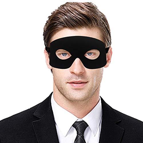 IDOXE Black Men Masquerade Masks Zorro Greek Ninja Leather Mens Mascarade Masquerade Face Mask for Mardi Gras Ball Party/Halloween Costume