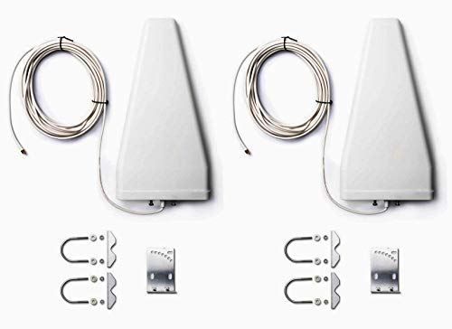 2 x LTE 4G high-performance antenne richtantenne (698 1800 2700MHz) incl. 2 x keer 10M kabel SMA compatibel Telekom Speedport Vodafone EasyBox O2 LTE router Huawei WLAN versterker 24dBi