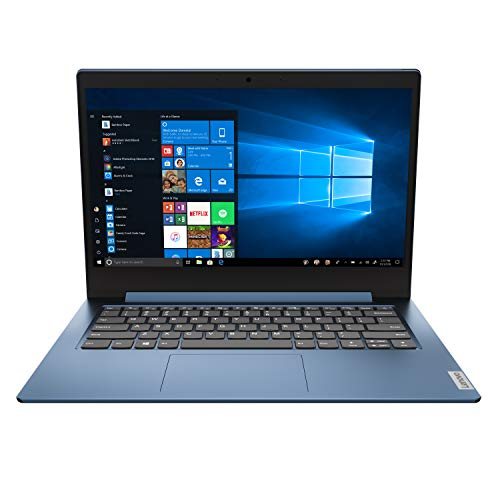2020 Lenovo IdeaPad 1 14.0' HD Laptop PC, Intel Pentium Silver N5030 Quad-Core Processor, 4GB Memory, 128GB SSD, HDMI, Webcam, WiFi, Windows 10 S, Ice Blue
