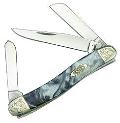 Case Cutlery 9318IQ/E Engraved Ivory Quartz Medium Stockman Corelon Pocket Knife with Stainless Steel Blades...