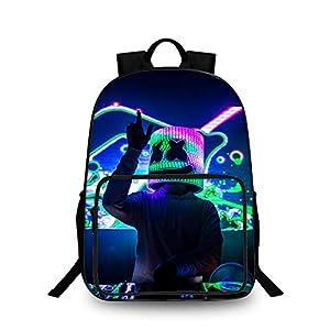 Mochila Escolar para niños con Estampado 3D de DJ, Mochila para computadora portátil Unisex para niños y Adultos