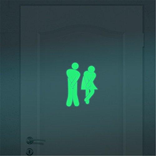 Leuchtend Wc Deckel Aufkleber Toilette Aufkleber Lustiger DIY Badezimmer Wandtattoo Sticker für Klo-Deckel Wandsticker Bad WC Sitz Absenkautomatik Wandaufkleber
