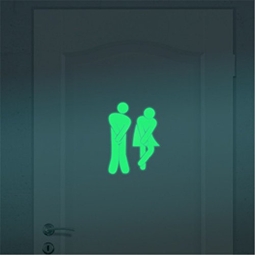 Removable Wall Sticker Clearance Sale, Libermall Bathroom Luminous Wall Sticker Home Decor Fancy Wall Door Windows Fluorescent Mural Decal Stickers, Best for Toilet Decoration Glow in The Dark Decal