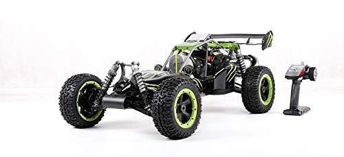 LOSA 4WD RC Buggy Gasolina, 1/5 de Coches de Juguete de Gas Off Road con Motor de 45 CC de Gasolina para Adultos, 2.4G regulador de Radio Incluyó,Verde