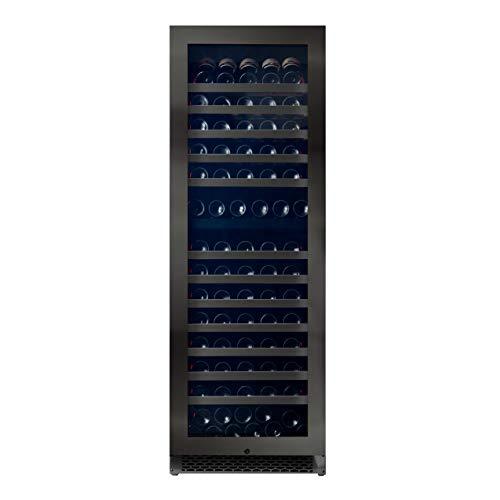 Pevino Nevera de vino para 190 botellas, enfriador de vino prémium con dos zonas de temperatura de 5-20 °C, clase de eficiencia energética A, bordes frontales de acero inoxidable, para instalación