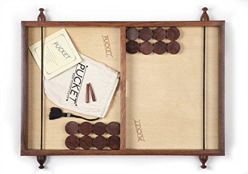 ET Games Pucket– Brettspiel Aus Holz– Katapult- Und Scheibenherausforderung Für Zwei Spieler– Fair-Trade-Zertifiziert