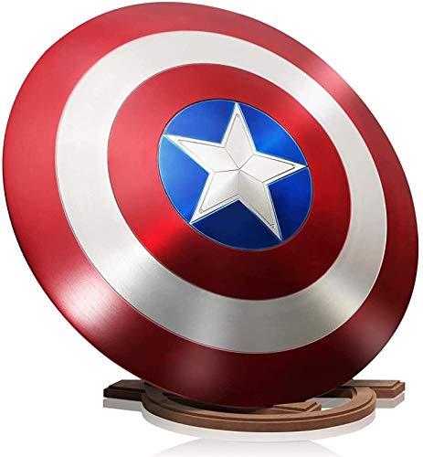 MMCC Avengers Marvel Captain America Shield Marvel Superhero Series Metal Shield Halloween Cosplay Disfraces para niños Película Adult Props de una Tamaño 1: 1,24 Pulgadas 60 cm