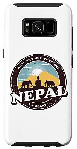 Galaxy S8 Nepal Kathmandu Buddha Statue Elephants Vintage Gift Case