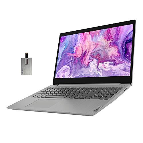 "2021 Lenovo IdeaPad 3 15.6"" FHD Laptop Computer, 10th Gen Intel Core i3-1005G1, 8GB RAM, 256GB PCIe SSD, Intel UHD Graphics, Dolby Audio, HD Webcam, HDMI, Windows 10S, Grey, 32GB SnowBell USB Card"
