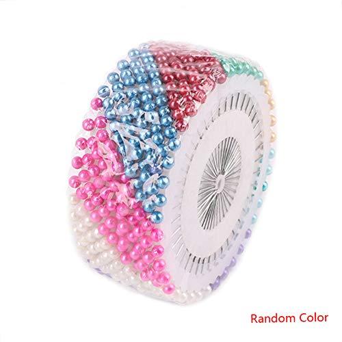 heacker 40Pcs DIY Haushalt Kunststoff-Perlen Nadel Set Nähen Perlen Pin Manuelle Positionierung Nadel Farbige Bead Kit