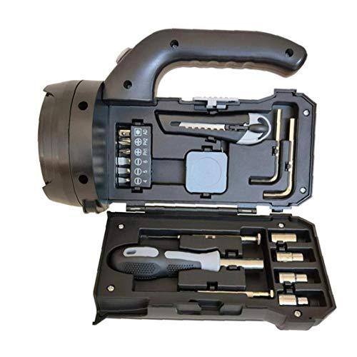 NaiCasy Juego de Destornilladores Destornillador de Cabeza Hexagonal Llave de la Herramienta Linterna de iluminación Kit de Hardware del Sistema de Herramienta Negro