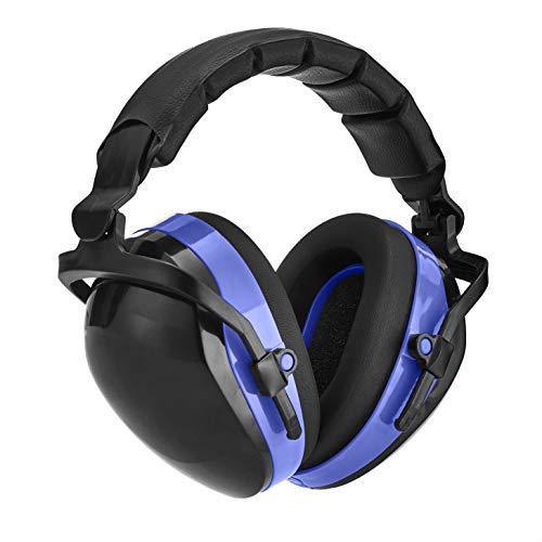 Amazon Basics Noise-Reduction Safety Earmuffs Ear Protection, Black and Blue