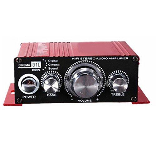 Amplificador de audio - SODIAL(R)12V Mini Hi-Fi Amplificador