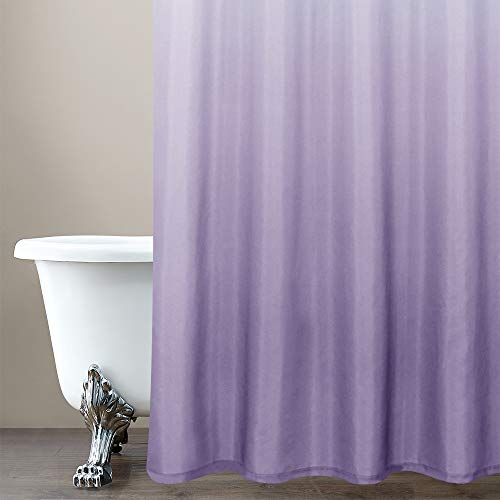 jinchan Ombre Shower Curtain Lilac for Bathroom Waterproof Gradual Color Design Fabric Shower Curtain Hooks Included with Rings 72 inch Long One Panel inches