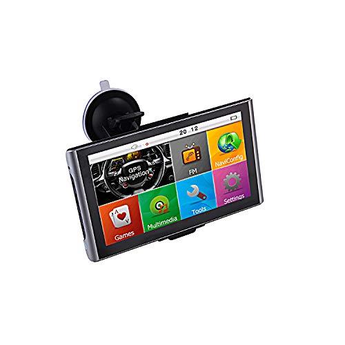 7 Zoll GPS Navi, Navigationsgerät, für LKW, PKW, WOHNMOBIL mit-Brueckenhoehenwarnung und TMC Verkehrsfunkempfänger. Rastplatzsuche, 12-24 V, über 50 Länder EU. Neuste Karten, Fahrspurassistent