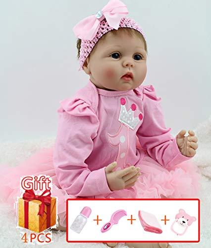 22 pulgadas 55 cm Realista Reborn Baby Dolls Vinilo suave Silicona Realista Baby Dolls recién nacidos que parecen reales Reborn baby con boca magnética Handmade Baby boys regalo de Navidad