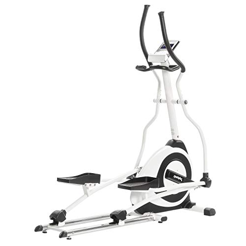 SportPlus Cross Trainer/Elliptical Trainer with Google Street View, Including Bluetooth Chest Strap, approx. 19 kg Flywheel, User Weight up to 150 kg, SP-ET-7000-iE