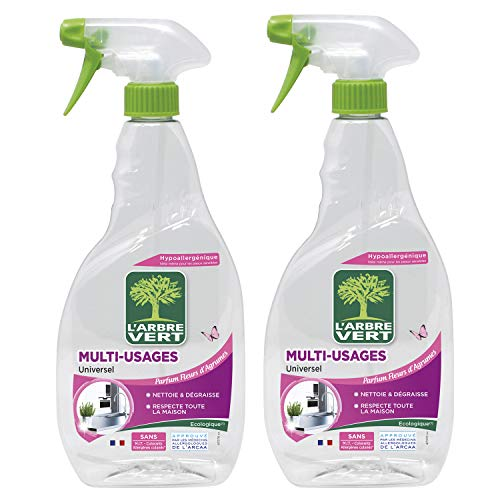 L'Arbre Vert - Spray Nettoyant Multi Usage - 740 ml - Lot de 2