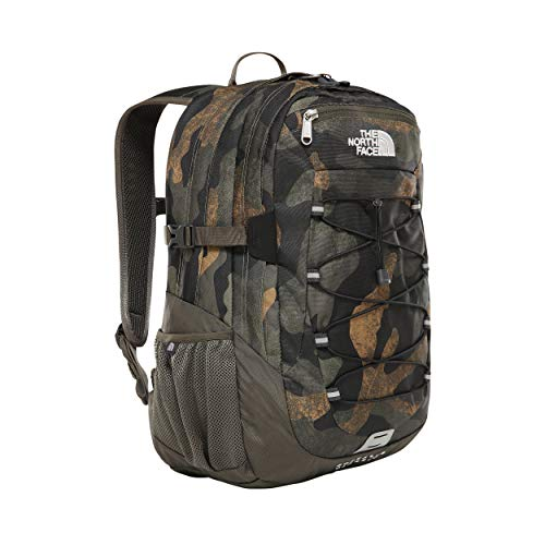 North Face Borealis Backpack- Burnt Olive Green Woods Camo Print/Burnt Olive Green T0CF9CG2G-OS