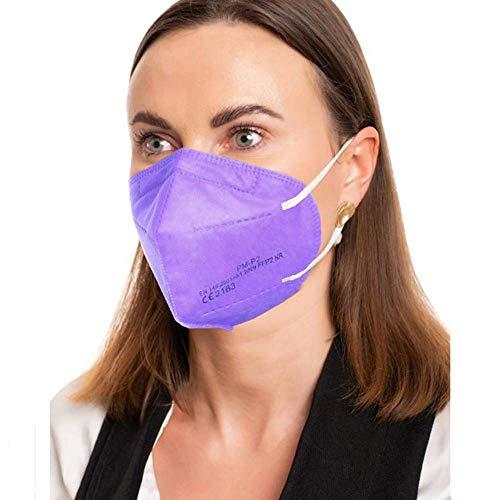 ProMedicalCare. Mundschutz FFP2 Maske lila, Mundschutz Maske FFP2 violett, Masken Mundschutz FFP2, 5er Pack