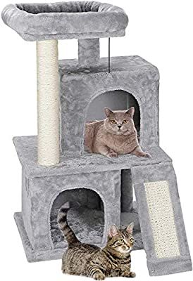 Nova Microdermabrasion 34 Inches Cat Tree Tower with Scratching Posts for Kittens House Furniture Trees