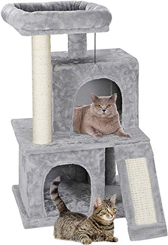 AmazonBasics Cat Condo Tree Tower with Scratching Post Now $26.39 (Was $45.50)
