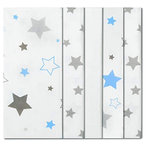 ByBoom - Baby molton doeken - flanel luiers - spuugdoekjes - kleurig - 70x80 cm - set à 5 stuks, 100% katoen - knuffelig - zacht; MADE IN EU