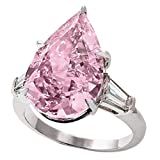 Rings for Women Exquisite Pink Diamond Geometry Water Drop Pointed Ring Ladies Jewelry Gifta Good Gift for a Girlfriend, Boyfriend, Family