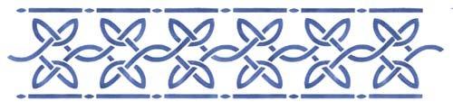 Designer Stencils Celtic Wall Stencil SKU #3392