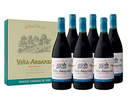 Viña Ardanza - Vino Tinto Reserva D.O.C Rioja Alta Variedad Tempranillo y Garnacha   Añada 2015   Pack Estuche 6 Botellas de 75cl