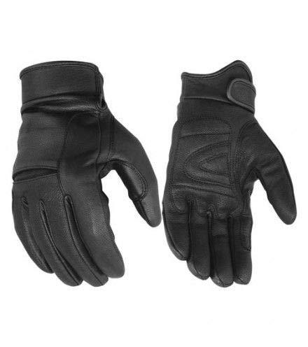 Daniel Smart Premium Light Lined Cruiser Motorcycle Gloves | Aniline Goat | Knuckle Design | Gel Palm & Adjustable Wrist Strap - DS44 - S